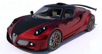 Ferrari-Powered Alfa Romeo 4C Definitiva by Lazzarini Design