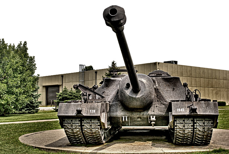 T28 Super Heavy Tank front view