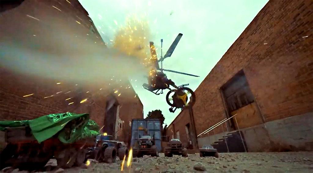 Parrot minidrone blew up toys