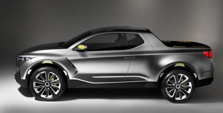 Hyundai Santa Cruz Crossover Truck Concept side view